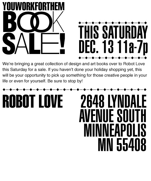 Book Sale at Robot Love