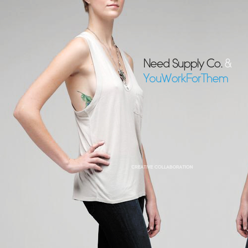 Need Supply Co. & YouWorkForThem Creative Collaboration
