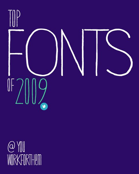 Top Fonts of 2009
