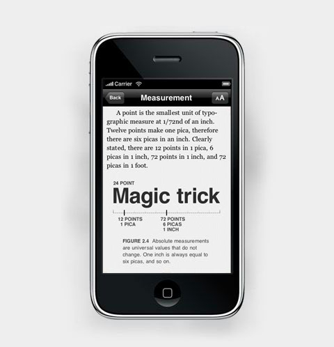 The Typography Manual for iPhone