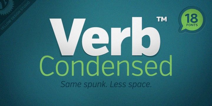 Verb Condensed, designed by Yellow Design Studio.