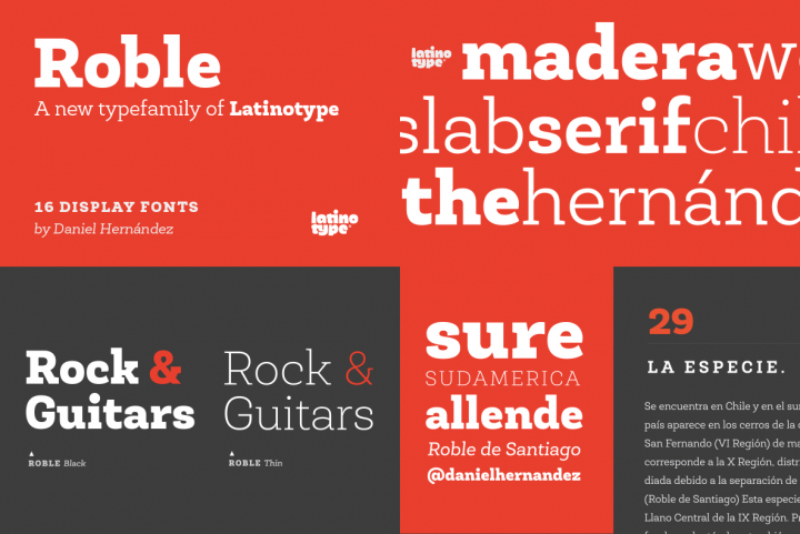 Roble and Roble Alt by LatinoType