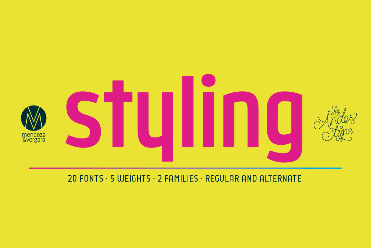 Styling, a new font / webfont by Los Andes Type