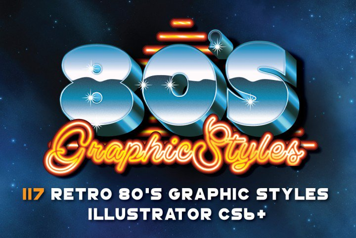 80s Retro Graphic Styles