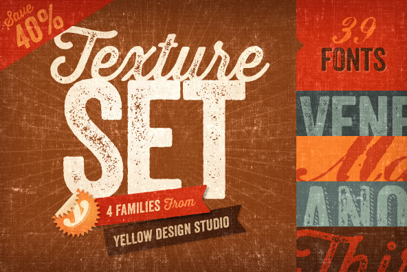 Download The Texture Font Set by Yellow Design Studio & Save 40%