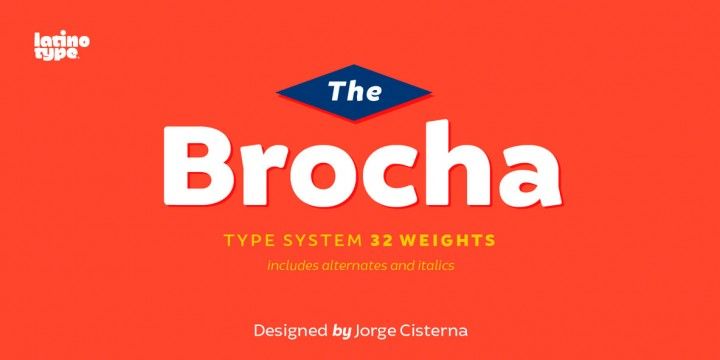 Download Brocha Font by LatinoType