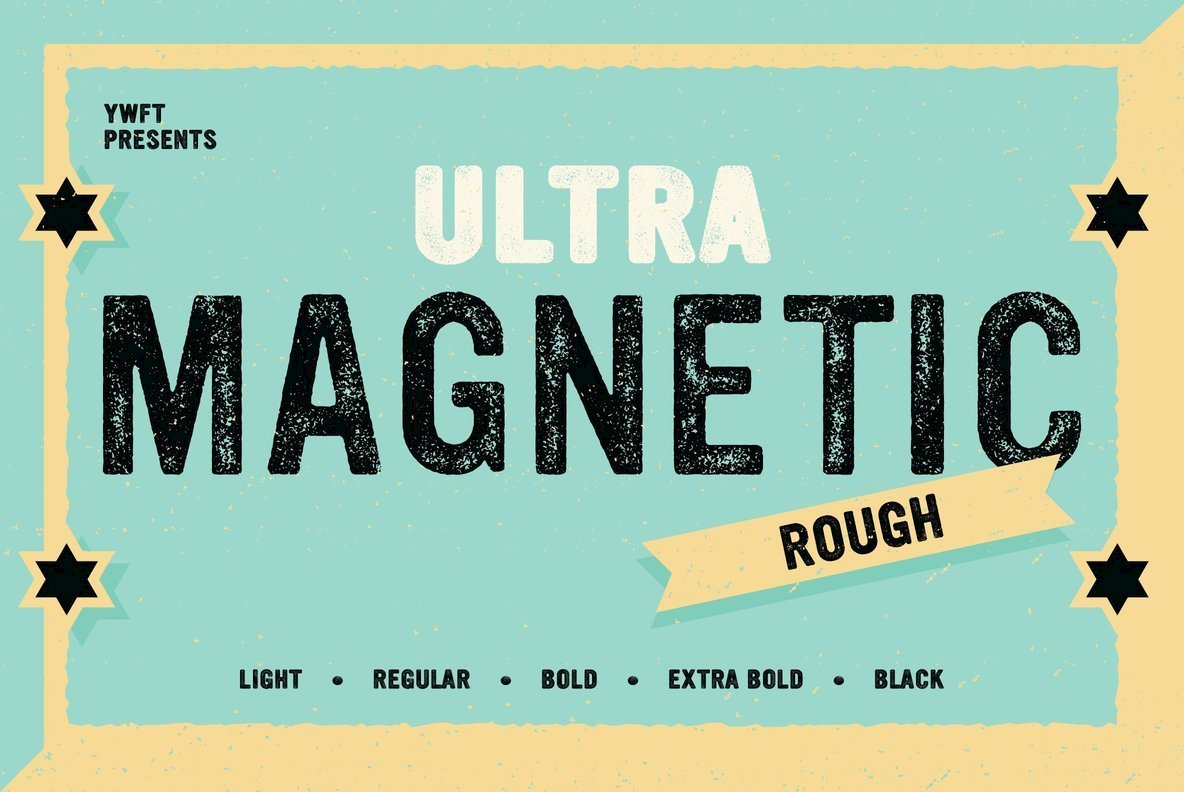 Download YWFT Ultramagnetic Rough Font